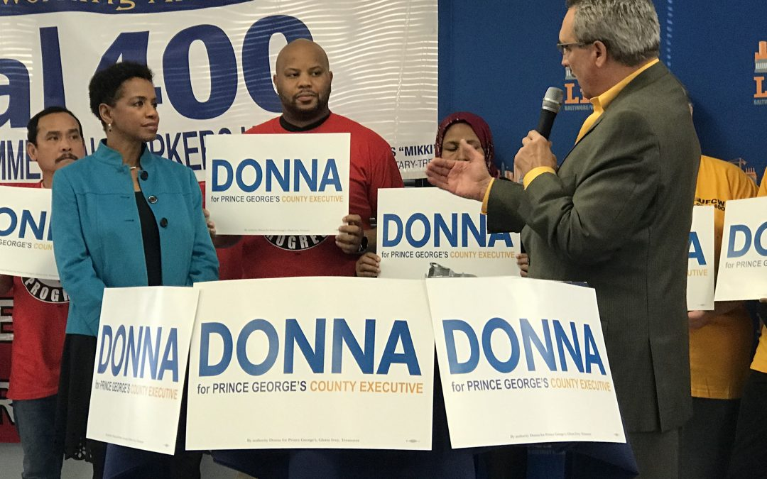 Local 1994 Joins Coalition of Labor Unions Endorsing Donna Edwards for PG Co. Executive
