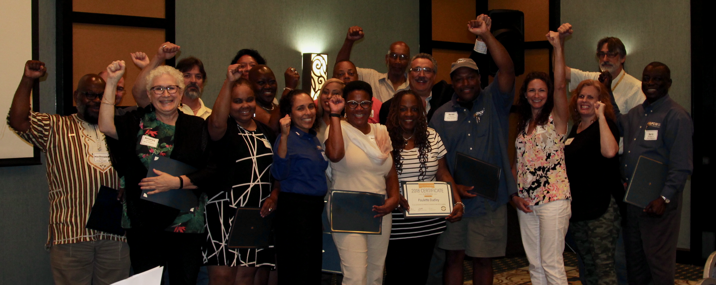 Canvassers Honored at Shop Stewards Seminar