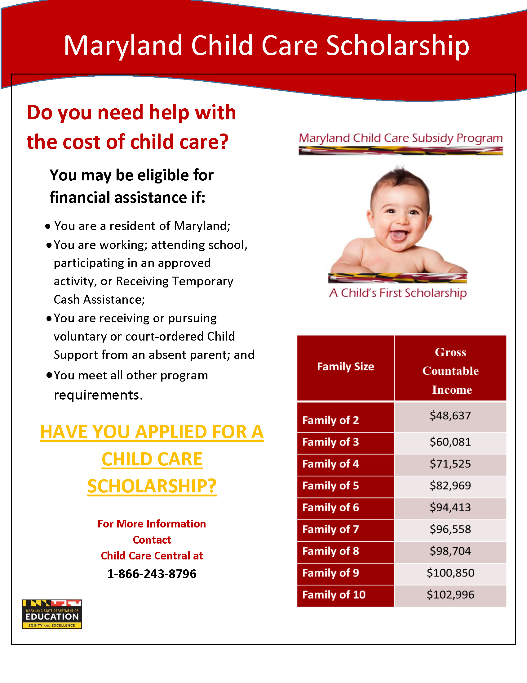 Child Care Scholarships