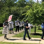 COUNTY EMPLOYEES AND COMMUNITY GROUPS PROTEST COUNTY COUNCIL'S CONTRACT REJECTION & RECENT FISCAL DECISIONS IN CAR/WALKING PARADE PAST COUNCILMEMBER REIMER'S HOME